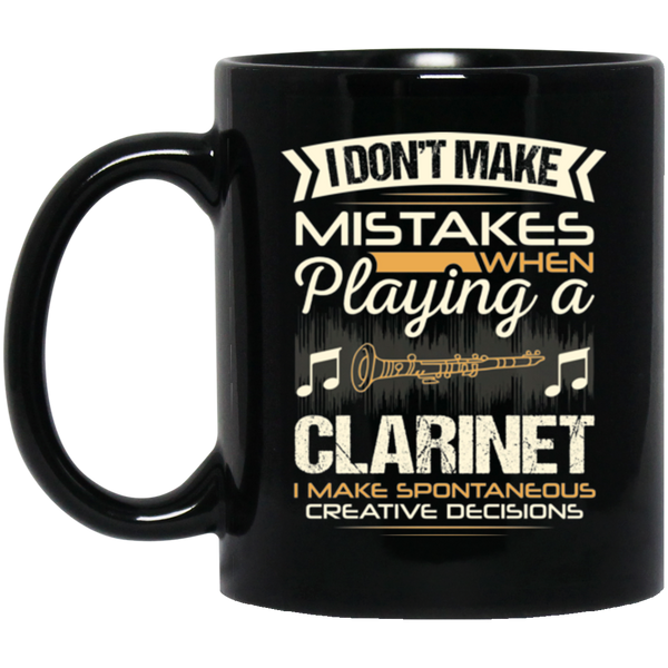 A coffee mug for clarinet players that don't make mistakes. I enjoy giving unique music gifts like this. | Music Gifts For Musicians | Unique Coffee Mugs #MusicGifts #Mugs