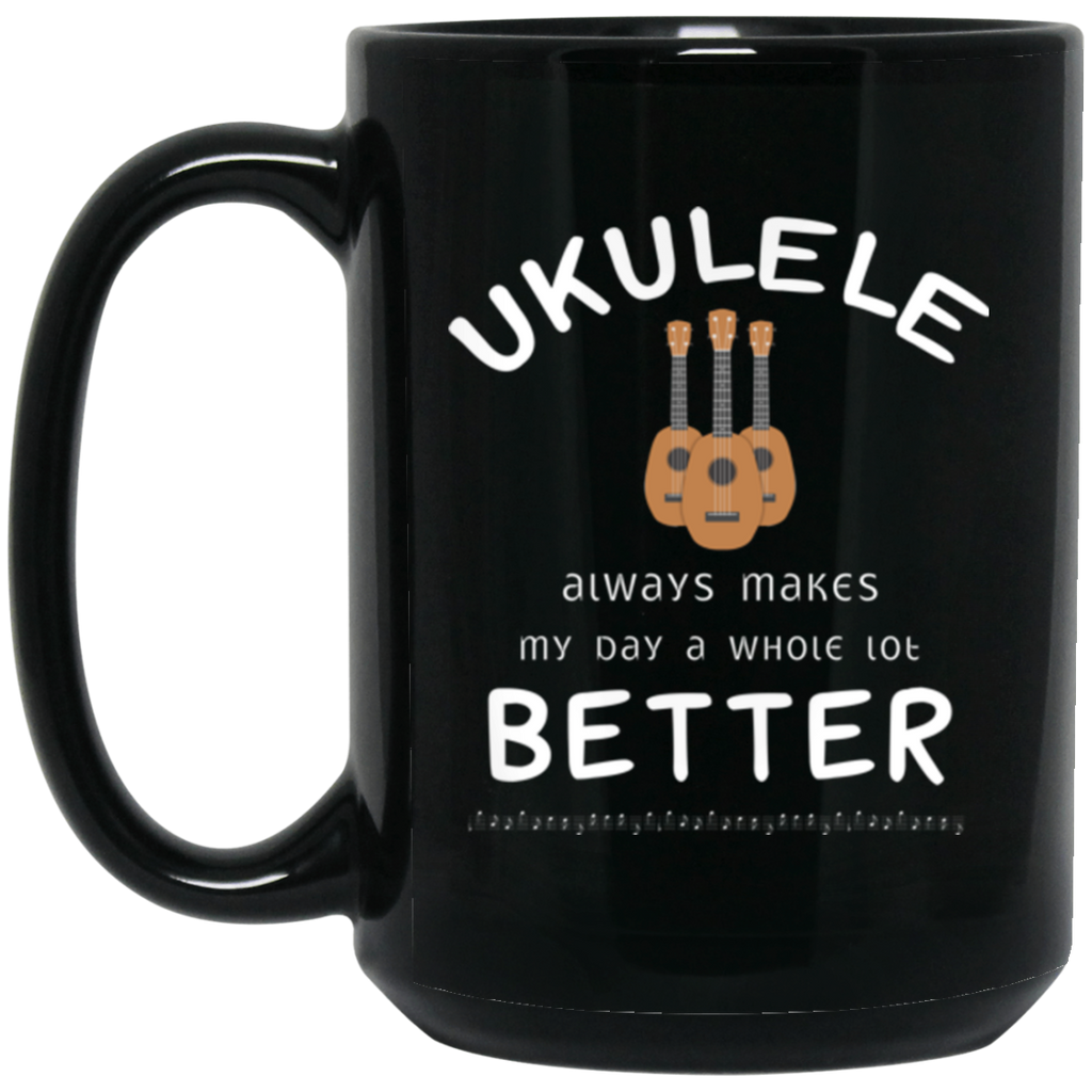 Ukulele Player Uke Instrument Coffee Mug Black