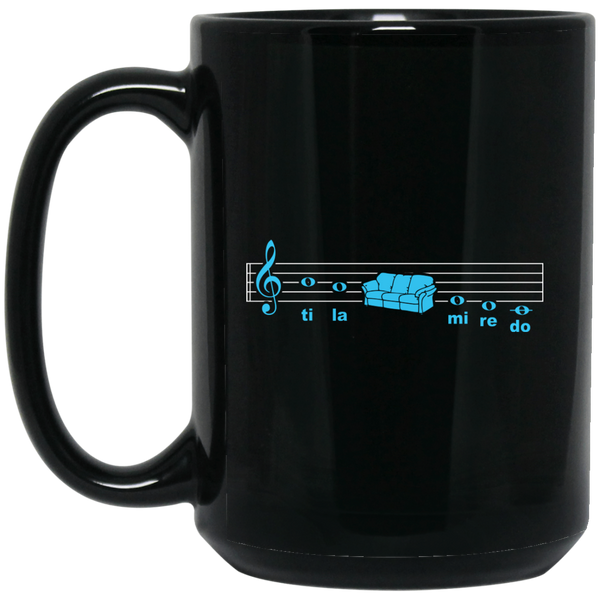 Solfege Sofa Music Coffee Mug Black