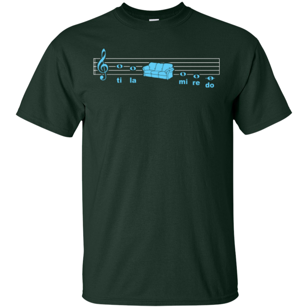 Sofa Solfege Music T-Shirt - Music Reading Savant Store