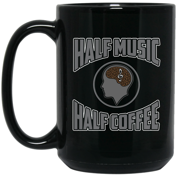 Half Music Half Coffee Coffee Mug Black