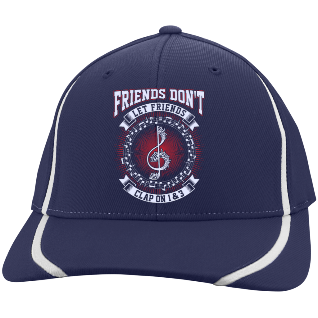 Friends Don't Let Friends Clap On 1 & 3 Embroidered Flexfit Hat - Music Reading Savant Store