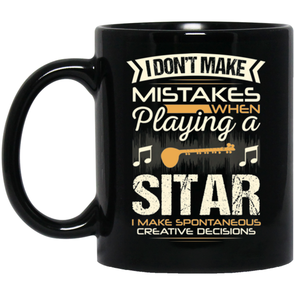 A coffee mug for sitar players that don't make mistakes. I enjoy giving unique music gifts like this. | Music Gifts For Musicians | Unique Coffee Mugs #MusicGifts #Mugs