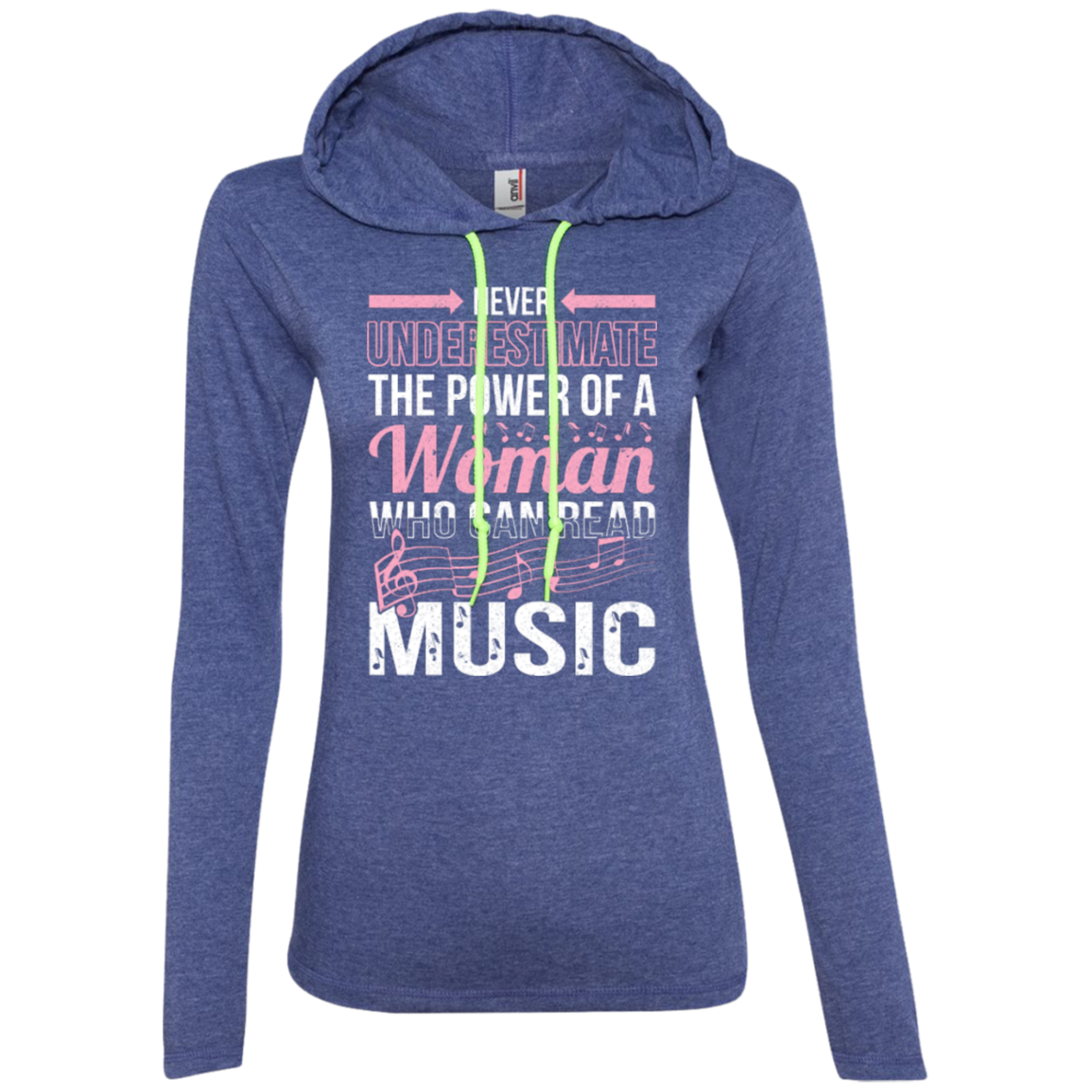 8bfd3363901b Never Underestimate The Power Of A Woman Who Can Read Music Ladies Lon -  Music Reading Savant Store