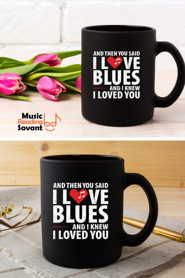 Love Blues Music Coffee Mug Black