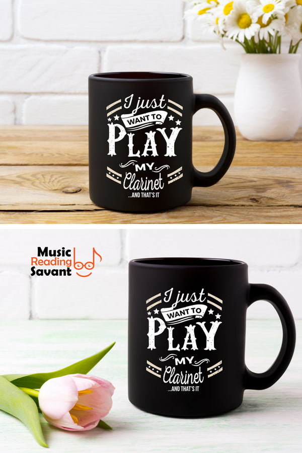 Clarinet Play Coffee Mug Black