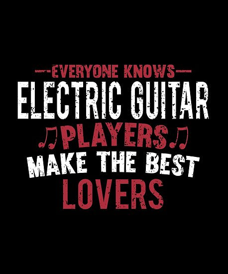 Electric Guitar Players Lovers Poster