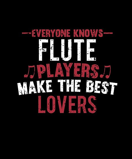 Flute Players Lovers Poster