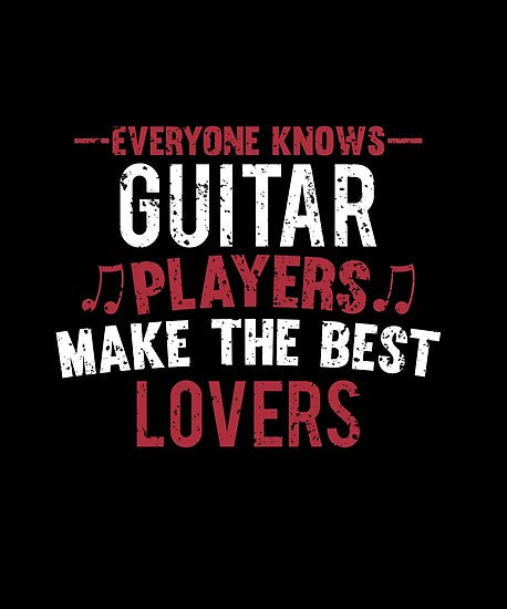 Guitar Players Lovers Poster