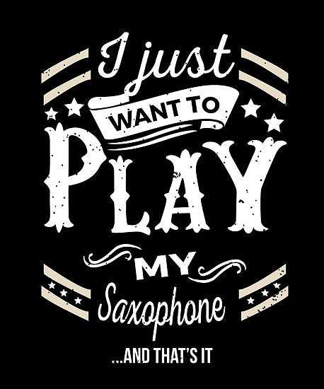 Saxophone Play Poster