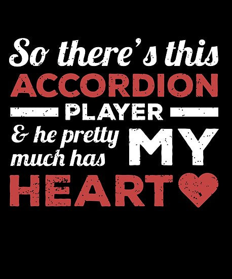 Accordion Player Heart Day Poster