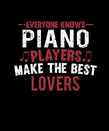Piano Players Lovers Poster