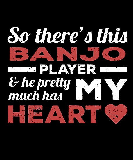 Banjo Player Heart Day Poster