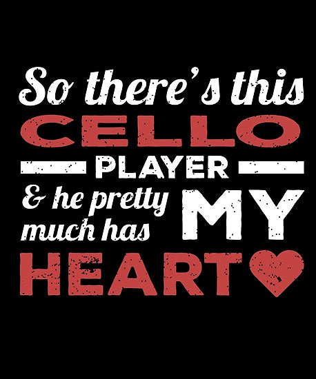 Cello Player Heart Day Poster
