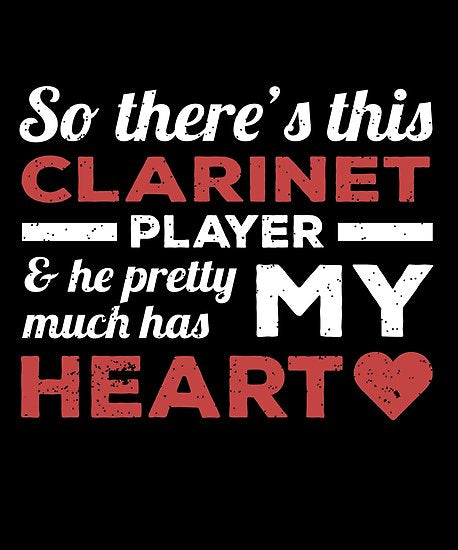 Clarinet Player Heart Day Poster