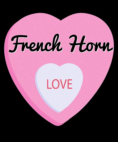 French Horn Love Poster