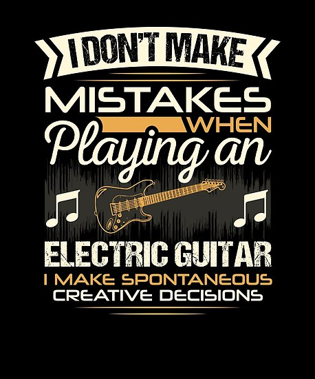 Electric Guitar Mistakes Poster