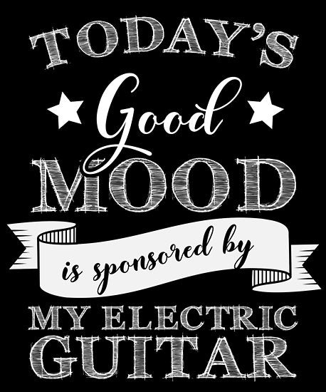 Electric Guitar Mood Poster