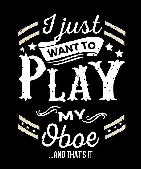 Oboe Play Poster
