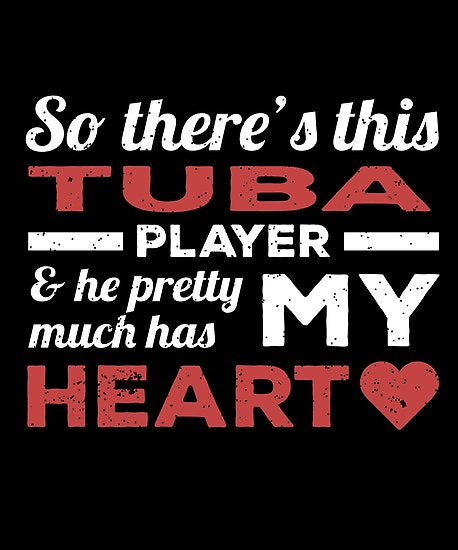Tuba Player Heart Poster