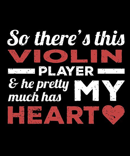 Violin Player Heart Poster