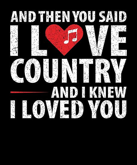 Love Country Music Poster