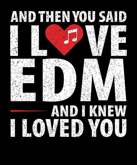 Love EDM Music Poster