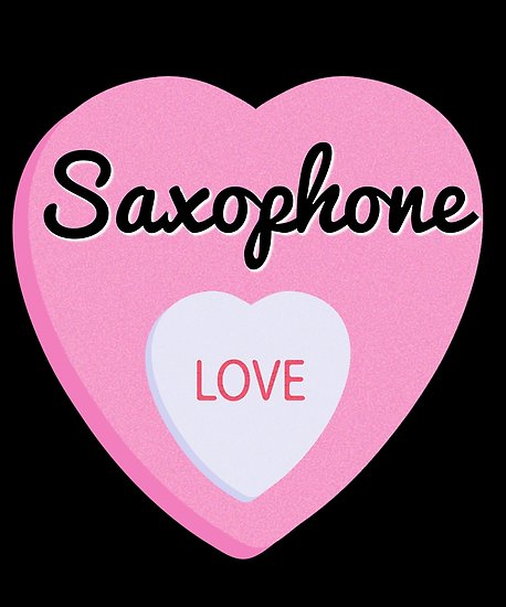 Saxophone Love Poster