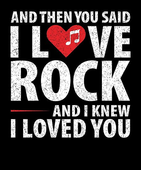 Love Rock Music Poster