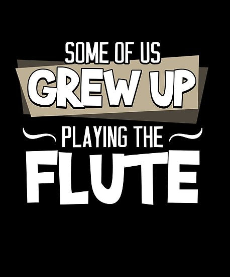 Flute Grew Up Poster