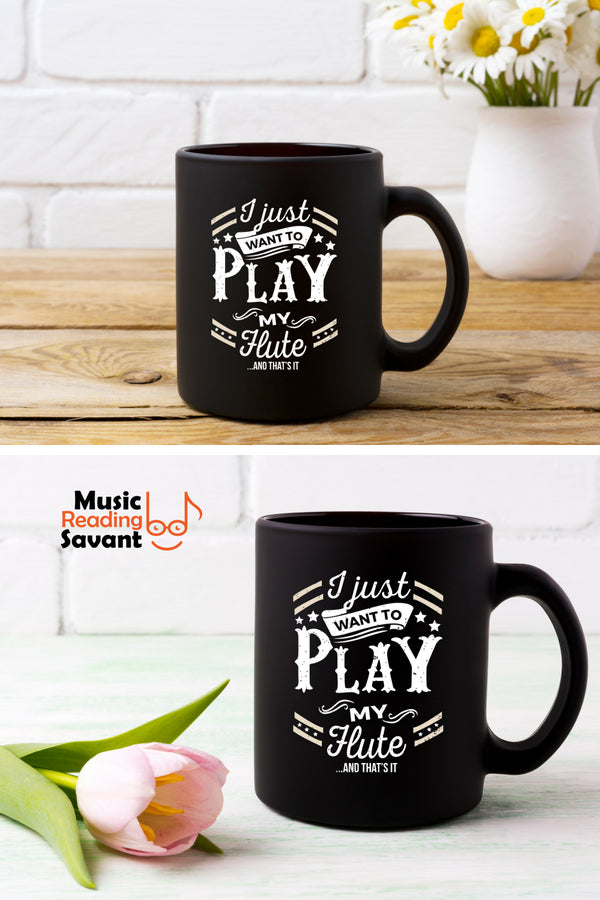 Flute Play Coffee Mug Black
