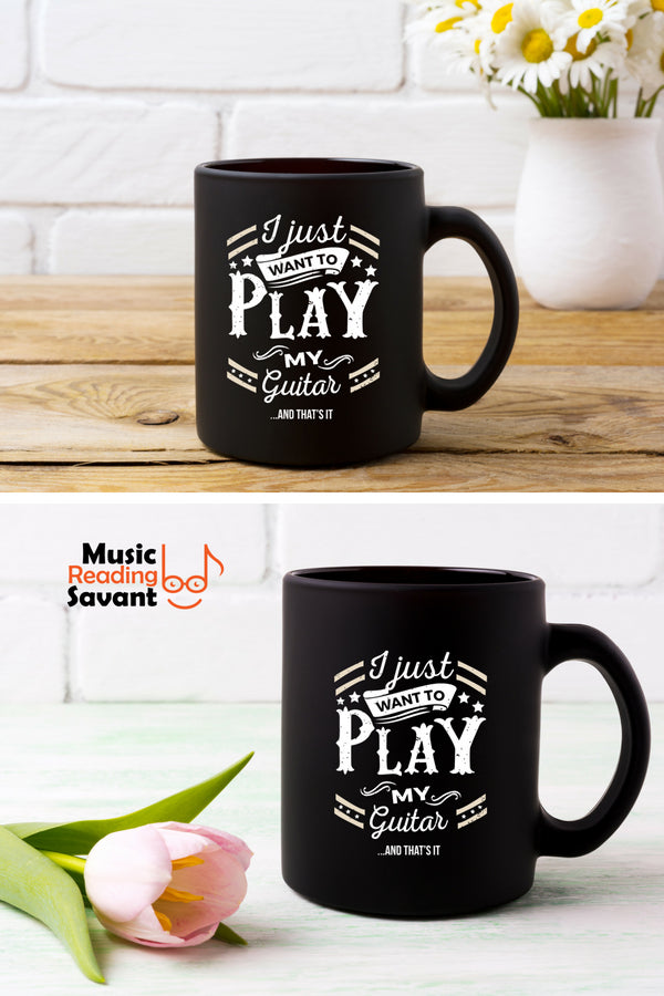 Guitar Play Coffee Mug Black