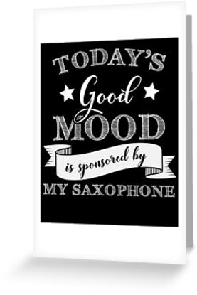 Saxophone Mood Greeting Card