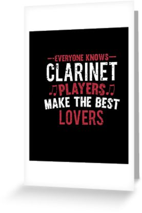 Clarinet Players Lovers Greeting Card