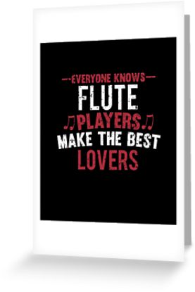Flute Players Lovers Greeting Card