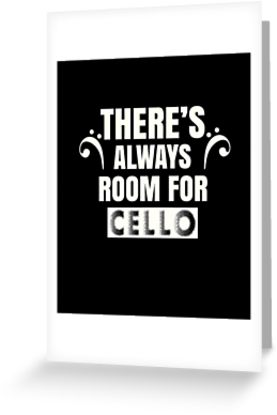Cello Room Greeting Card
