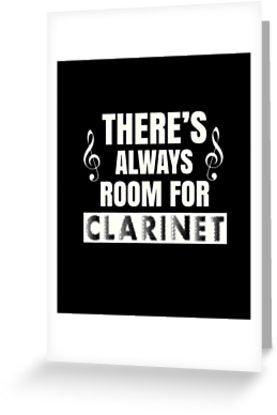 Clarinet Room Greeting Card