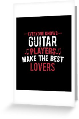Guitar Players Lovers Greeting Card