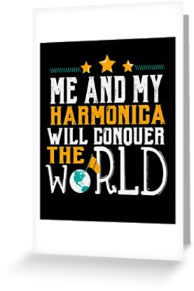 Harmonica World Greeting Card