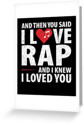 Love Rap Music Greeting Card