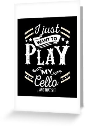 Cello Play Greeting Card