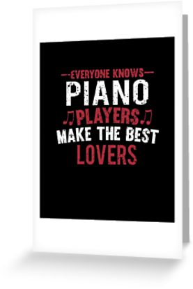 Piano Players Lovers Greeting Card