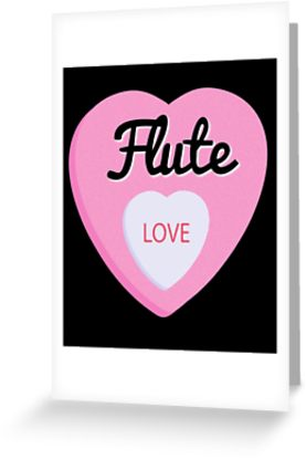 Flute Love Greeting Card