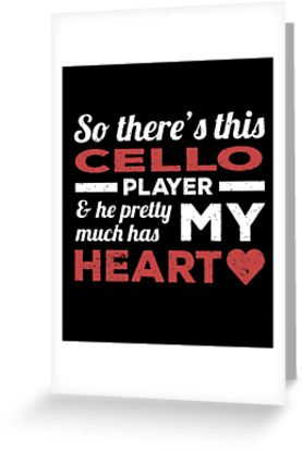 Cello Player Heart Greeting Card