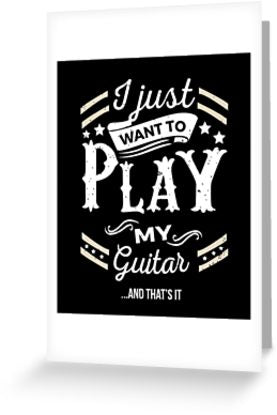 Guitar Play Greeting Card