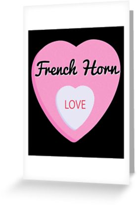 French Horn Love Greeting Card