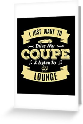 Coupe Lounge Greeting Card