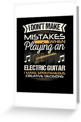 Electric Guitar Mistakes Greeting Card
