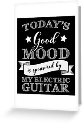 Electric Guitar Mood Greeting Card