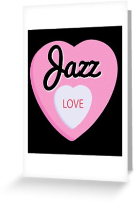 Jazz Love Greeting Card